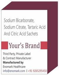 Sodium Bicarbonate Sodium Citrate Tartaric Acid Citric Acid Sachets