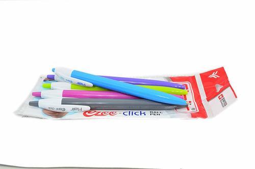 Flair Ezee Click Blue Ball Pen - Pack of 5