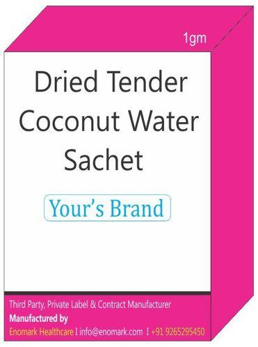Dried Tender Coconut Water Sachet