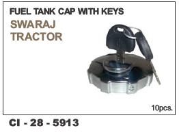 Fuel tank cap with keys tractor