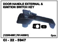 Auto Door Handle  Jcb External Ignition Switch Key