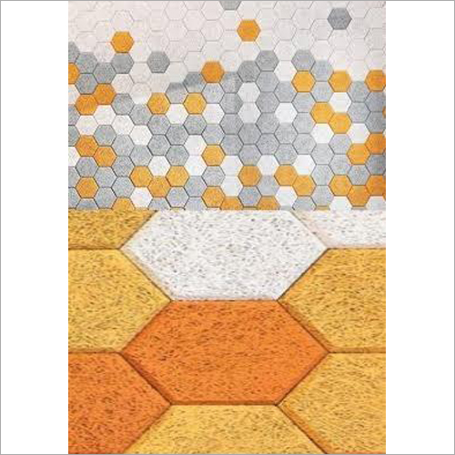 Hexagonal Wood Wool Acoustic Tile