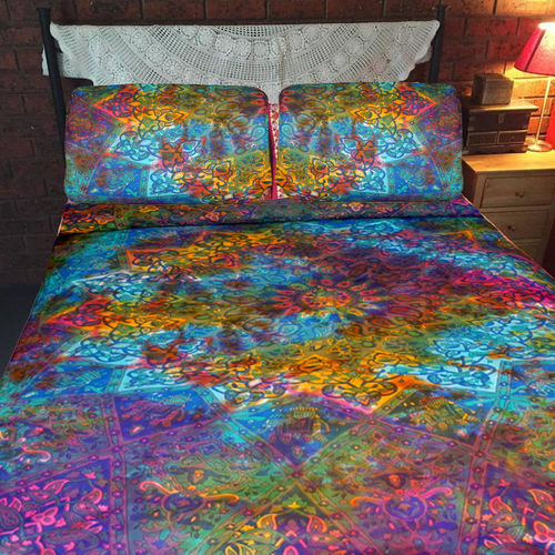 Indian Mandala Cotten Multicolour Duvet Cover