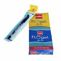 Cello FLOGEL (Blue Ink) Gel Pen - Pack of 10