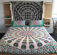 Indian Mandala Cotton Light Pink Duvet Cover