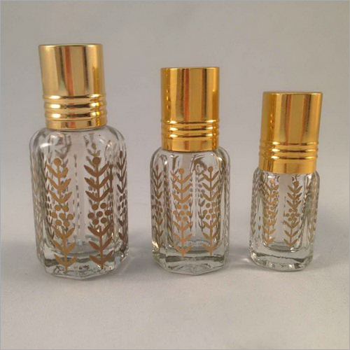 Octagonal Shape Glass Attar Bottle