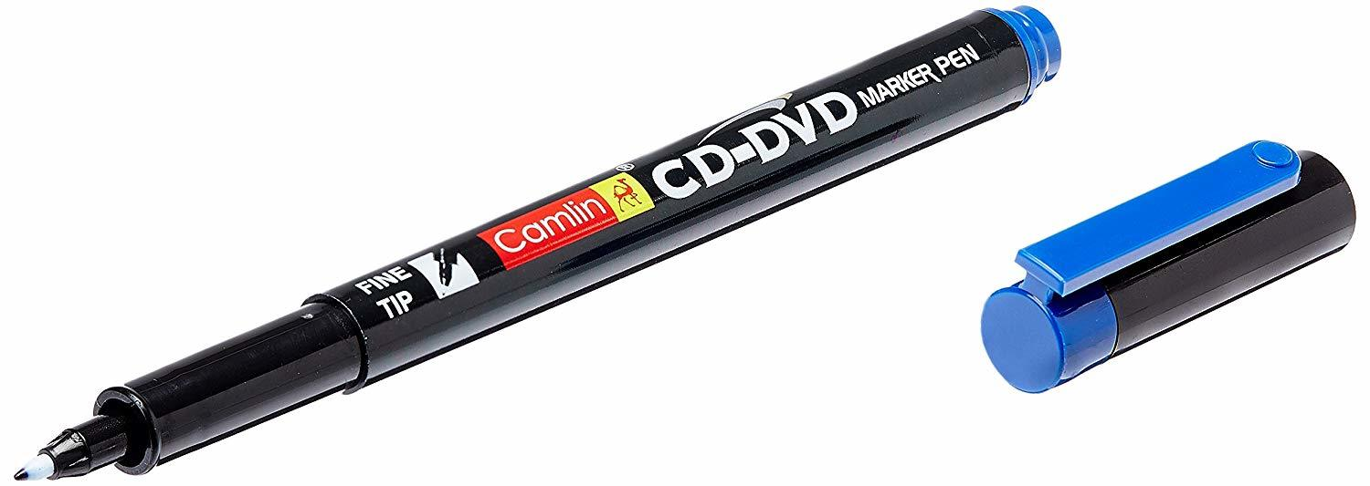 Camlin CD - DVD Marker Pen, Blue - Pack of 10