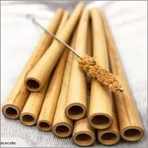 Brown Natural Bamboo Straws