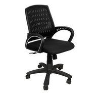 Black Low Back Mesh Chair