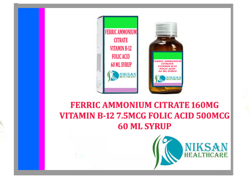 Ferric Ammonium Citrate Vitamin B-12 Folic Acid Syrup