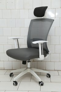 White High Back Mesh Chair