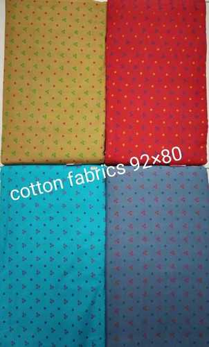 Square Block printed Cotton Fabric