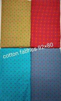 Square Block printed Cotton Fabric