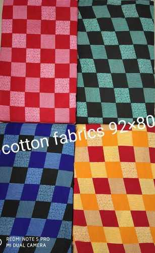 Square Box Print Cotton Fabric