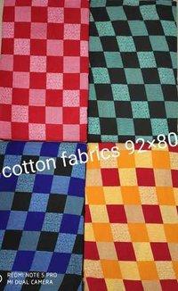 Square Box Print Cotton Fabric