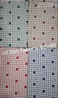 Small box Print cotton fabric
