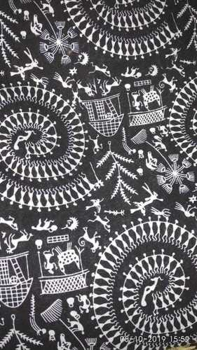 Chiku Black Cotton Fabric