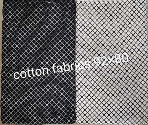 Black and white Cotton fabric Pattern