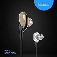 Double double universal metal 3.5 jack y2 earphone