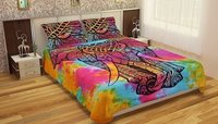 Indian Mandala Cotton Colourful Elephant Duvet Cover