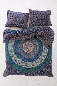 Indian Mandala Cotton Blue Round Duvet Cover