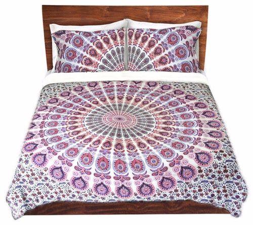 Indian Mandala Pink Cotton Duvet Cover