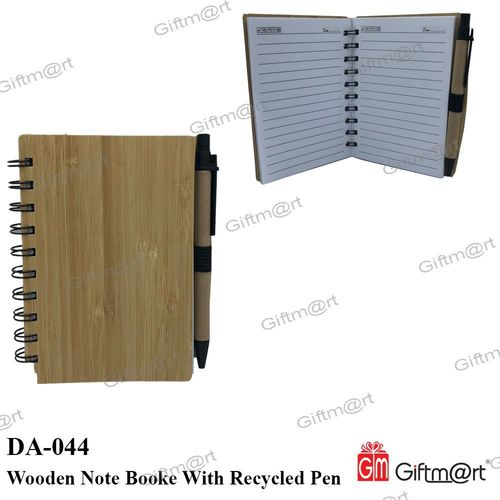 Wooden Note Book With Recycled Pen