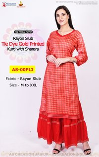 Buy Designer Women Kurta and Sharara Suits Online - Party Wear Kurta and Sharara Set