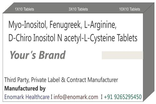 Myo-inositol Fenugreek, L-Arginine D-Chiro Inositol N acetyl-L-cysteine Tablets