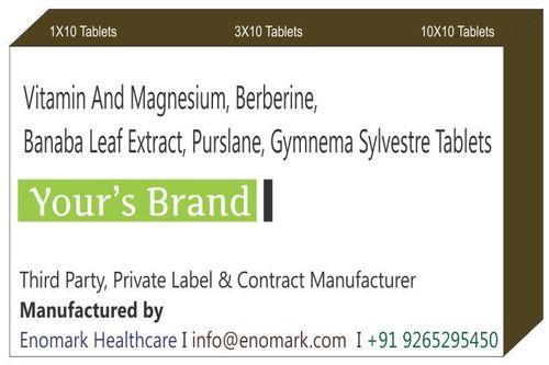 Vitamin and Magnesium Berberine Banaba Leaf Extract Purslane Gymnema Sylvestre Tablets