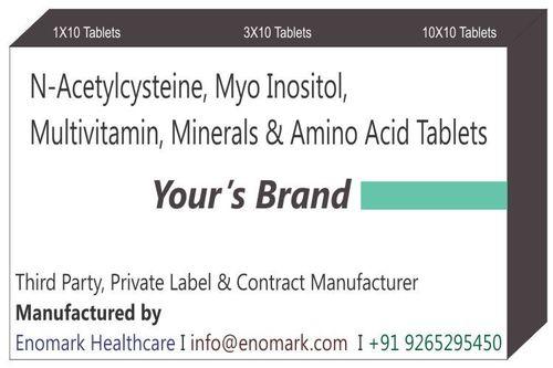 N-Acetylcysteine Myo inositol Multivitamin Minerals and Amino Acid Tablets