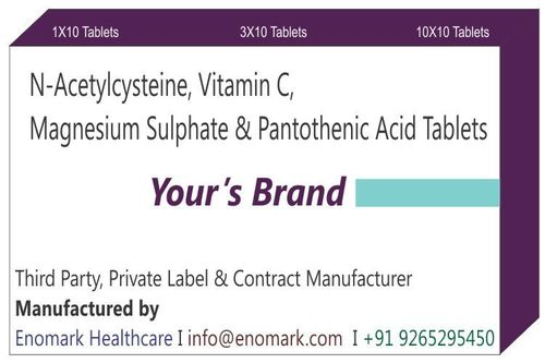 N-acetylcysteine Vitamin C  Magnesium Sulphate and Pantothenic Acid tablets
