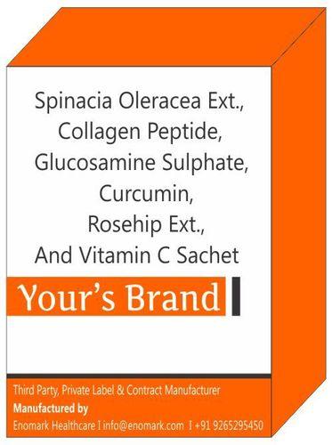 Spinacia Oleracea Ext Collagen Peptide Glucosamine Sulphate Curcumin Rosehip Ext And Vitamin C Sachet