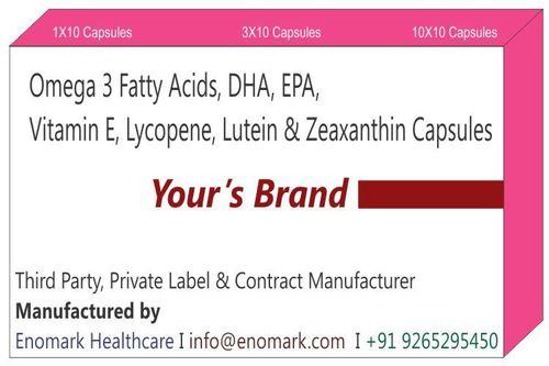 Omega 3 Fatty Acids DHA EPA Vitamin E Lycopene  Lutein  Zeaxanthin Capsules