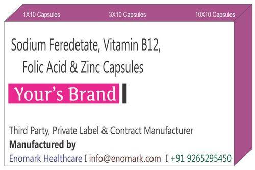 Sodium Feredetate Vitamin B12 Folic Acid and Zinc Capsule