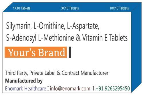Silymarin L-Ornithine L-Aspartate  S-Adenosyl L-Methionine & Vitamin E Tablets