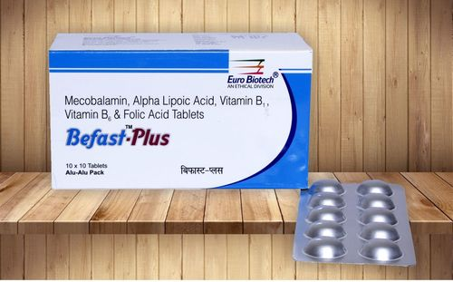 Mecobalamine 1500 mcg,Folic Acid 1500 mcg,Vitamin B6 (3 mg) & Alpha Lipoic Acid 100 mg