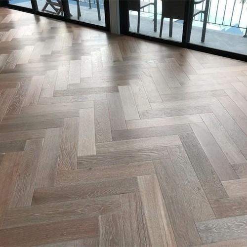 Herringbone Wooden Flooring