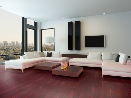 Non-Slip Stained Bamboo Flooring