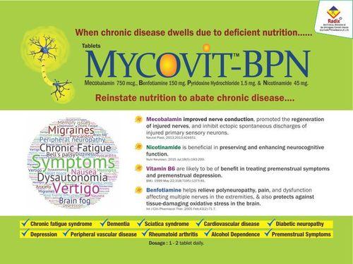 Methylcobalamin 750 mcg, Benfotiamine 150 mg, Pyridoxine1.5 mg & Nicotinamide