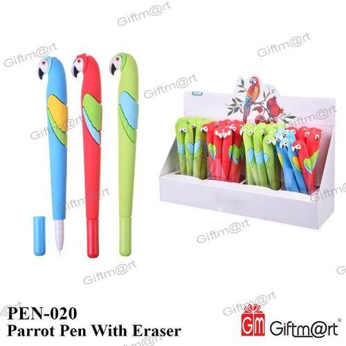Parrot Pen With Eraser