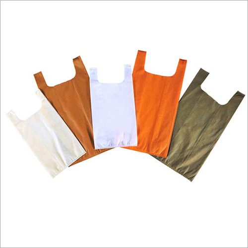 U Cut Plain Non Woven Bag