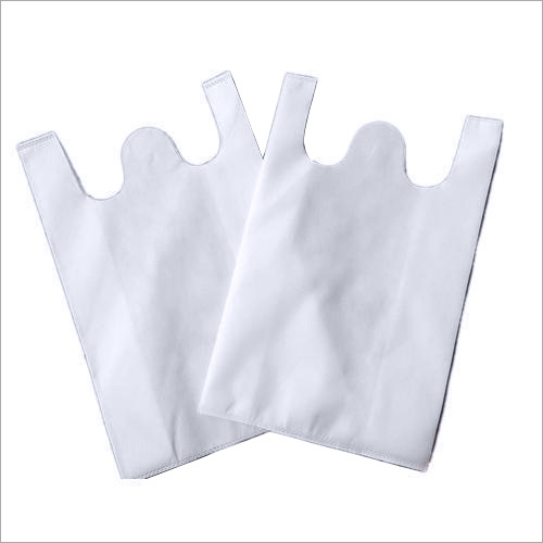 W Cut Plain White Non Woven Bag