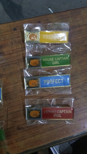 School Brass Name Badges