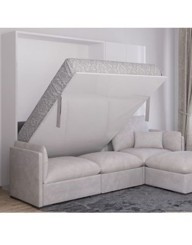 Wall Mounted Bed With L shape Sofa