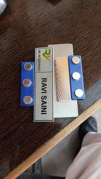 Office Name Badges In Steel