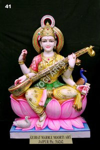 YogiArts - Marble Saraswati Statue 41