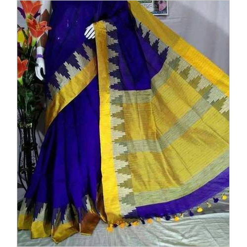 Handloom Cotton Silk Temple Work Sarees