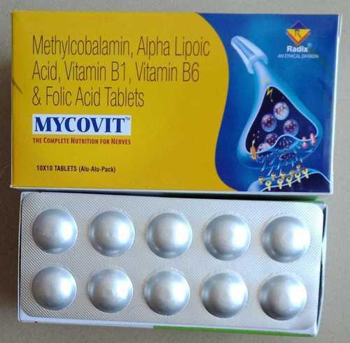 Methylcobalamin 1500 mcg,Alpha Lipoic Acid 100 mg,Folic Acid 1.5 mg,Vitamin B6 3 mg & Thiamine 10 mg