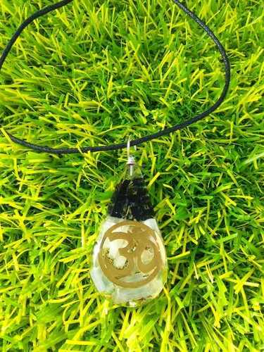 Orgone Blacktourmaline And Selenite With OM Logo Pendant